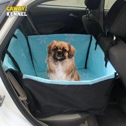 CAWAYI بيت الكلب الناقلون الكلب غطاء مقعد السيارة تحمل للكلاب القطط حصيرة بطانية الخلفية الخلفي أرجوحة حامي النقل بيرو