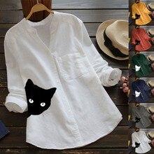 Women's Fashion Printed Cat Shirt