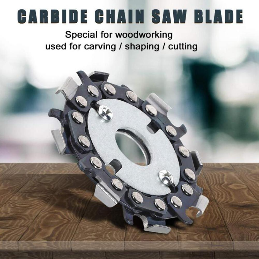 Angle Grinder Chain Disc Anti-Kickback 2.5 Inch 8 Teeth Wood Carving Disc Saw Blade With Double Saw Teeth