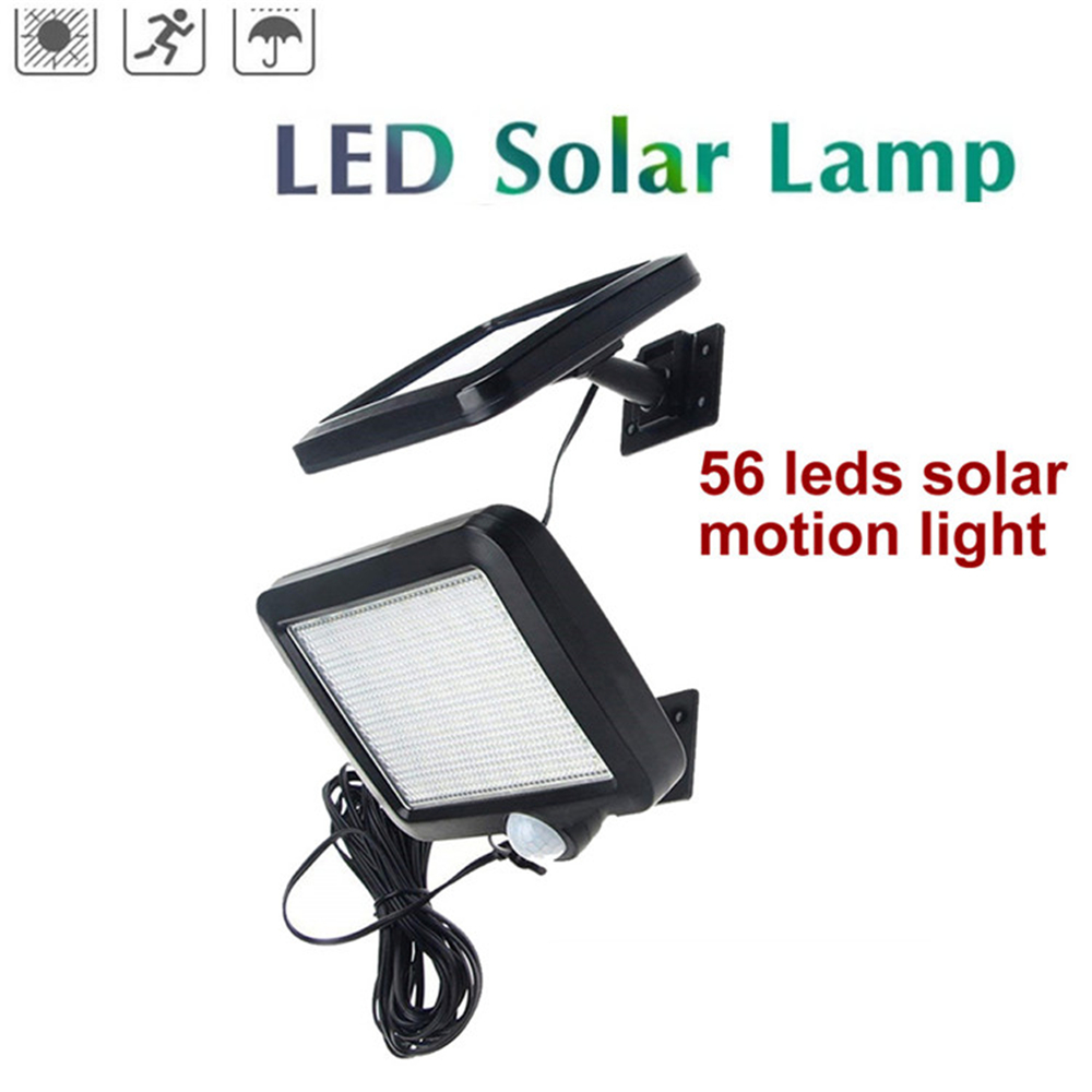 56/30 LED Solar Power Lamp PIR Motion Sensor Wall Light Outdoor Waterproof Energy Saving Street Garden Yard Security Lamp Split