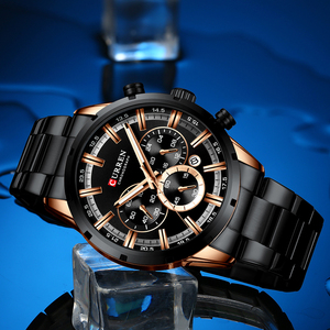 Image 5 - Luxury Brand CURREN Sporty Watch Mens Quartz Chronograph Wristwatches with Luminous hands 8355 Fashion Stainless Steel Clock