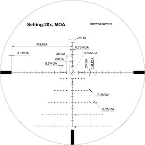 Image 5 - Vector Optics Tourex 6 24x50 1/4 MOA Turret Zero Stop Adjustment MOA Reticle FFP Riflescope for Hunting