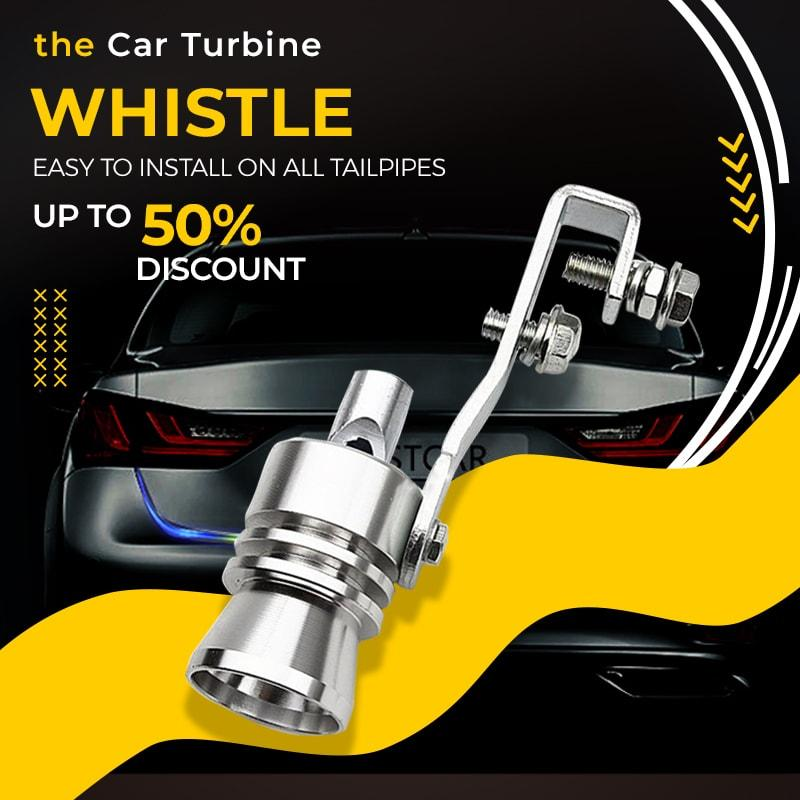Car Turbine Whistle Turbo Whistle Universal Car Size Turbo Sound Whistle Muffler Exhaust Pipe Auto Blow-off Valve Simulat image
