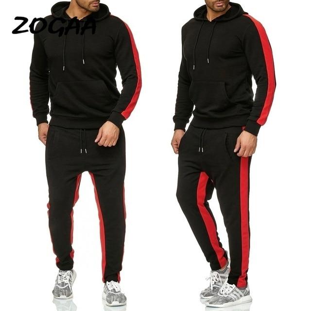 ZOGAA 2019 Men Jogging Hoodie Sweatpants Set Casual Male Pullover Sweat Hoodie + Pants Sports Men's Tracksuit 2
