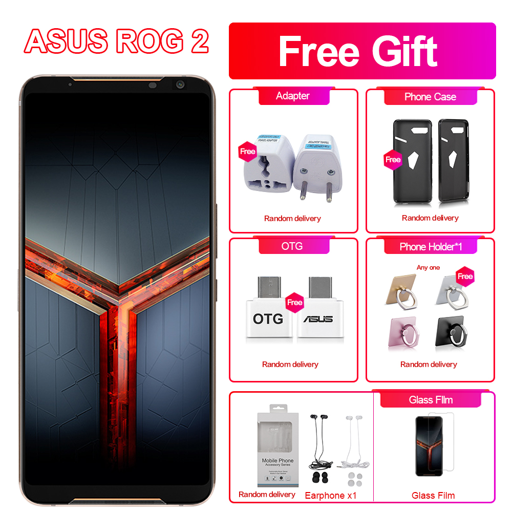 "Brand New Asus ROG Phone 2 Game Phone 6.59"" 8GB RAM 128GB ROM Snapdragon 855+  NFC ROG Phone II ZS660KL 6000mAh LTE Mobile Phone"