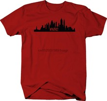 NYC New York City Skyline Stadt Stolz Statue of Liberty Farbe T-Shirt(China)