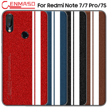For Xiaomi Redmi Note 7 7S Back Case For Redmi Note 7 Pro Leather Full Protective Phone Case For Redmi Note7 Shockproof Cover srhe for xiaomi redmi note 7 pro case cover note 7s vintage cloth fabric soft silicone full back cover for redmi note 7s note7