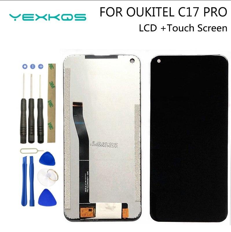 100% Оригинальный Новый 6,35 дюймовый OUKITEL C17 PRO ЖК-дисплей + кодирующий преобразователь сенсорного экрана в сборе LCD + сенсорный дигитайзер для ...