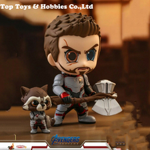 цена на Hot Toys Thor+Rocket Raccoon Cosbaby Bobble-Head Dolls Avengers:Endgame Figures In stock mini figure model for fans collection