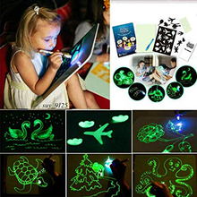 A3 A4 A5 LED Luminous Drawing Board Graffiti Doodle Drawing Tablet Magic Draw With Light-Fun Fluorescent Pen Educational Toy