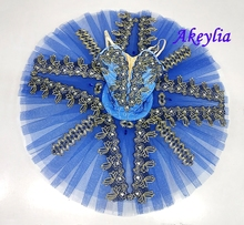 Adult Blue Professional Tutus ballet Stage Costume for Girls Performance Classical blue bird Dress Ballet