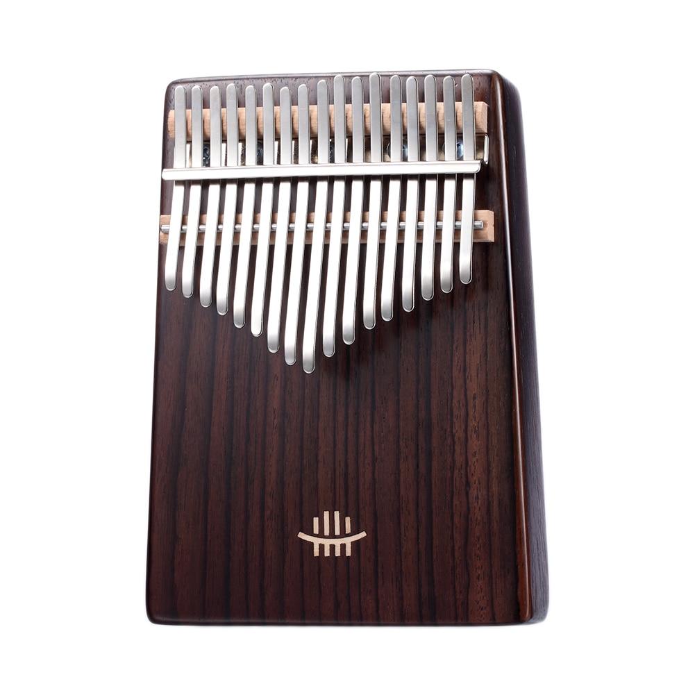 17 Keys Kalimba Mahogany / Maple / Acacia / Walnut / Rosewood Thumb Piano With Tuning Hammer Musical Scale Sticker Cloth Bag