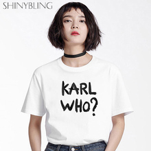 Oversized Grunge Aesthetic T-Shirt gothic Karl Women Tops Plus-Size Cotton Fashion Summer