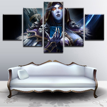 Canvas Painting Printed Poster Decor Artwork 5 Panel Modern Pictures DotA 2 Drow Ranger Wall Art Game Framework