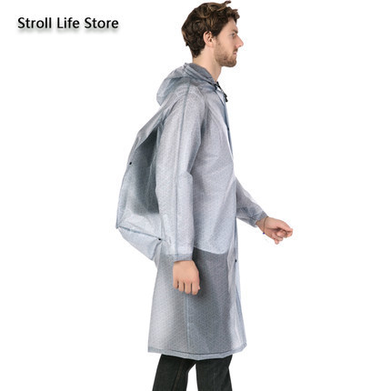 Clear Rain Coat Jacket Adult Raincoat Women EVA Long Outdoor Climbing Fishing Hiking Rain Poncho Plastic Suit Impermeable Gift 1