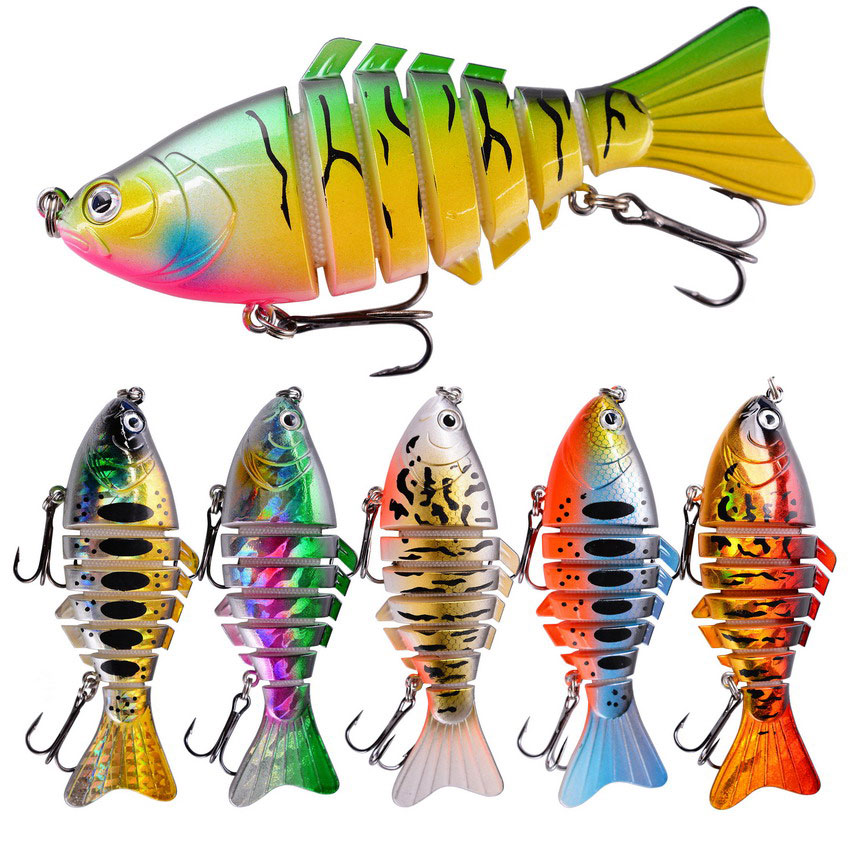 10cm 15.7g Wobbler Pike Fishing Lures Artificial Multi Jointed Sections Artificial Hard Bait Trolling Pike Carp Fishing Tools