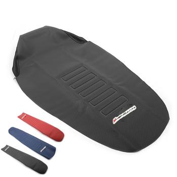 Guma 785mm chwytak miękkie siedzisko skóra poduszka na siodło pokrywa antypoślizgowa wodoodporna ochrona dla KTM Honda Kawasaki Yamaha CRF tanie i dobre opinie MotoParty Fotele i ławki 78 5cm Seat Cover 290g Rubber vinyl