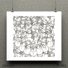 ZhuoAng Snowman model Clear Stamps For DIY Scrapbooking/Card Making Decorative Silicon Stamp Crafts