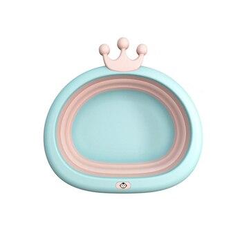 Caricatura Cute Portable Baby Basin viaje recién nacido PP Thicken cara pie Ass lavabo para niños 2019 nuevo