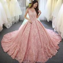 Роскошные розовые Бальные платья 2020 бальное платье с прозрачным