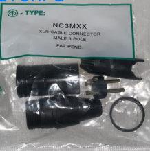NC3MXX – lot de connecteurs XLR, plaqués or, ensemble de broches mâles et femelles, avec 3 broches, 60 pièces/lot, 30 pièces