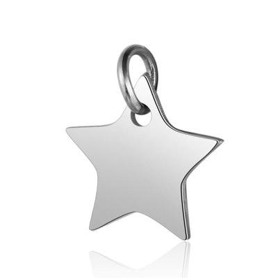 Semitree 5 шт. крылья из нержавеющей стали Сердце Подвески в виде звезд для DIY шнур кожаный ювелирные изделия ручной работы аксессуары - Окраска металла: star