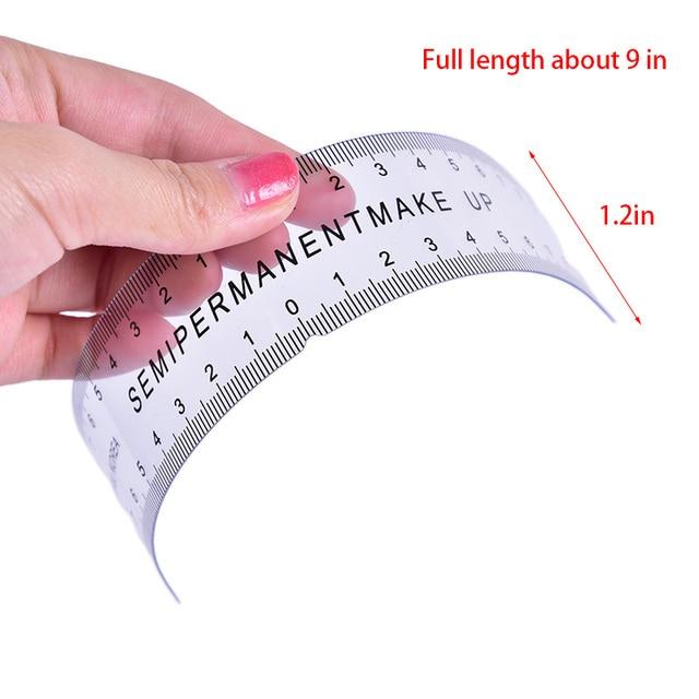 1PCS Reusable Semi Permanent Eyebrow Ruler Eye Brow Measure Tool Eyebrow Guide Ruler Microblading Stencil Makeup Tools 2