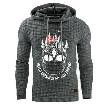 2020 jesienno-zimowa nowa bawełniana bluza męska bluza drukarska bluza z kapturem wełna gruba bluza z kapturem męska bluza męska tanie i dobre opinie COTTON POLIESTER CN (pochodzenie) Odporna na mechacenie Zapobiega marszczeniu wiatroszczelna multicolor Sweater Fleece