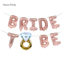 Twins Party Bride To balloon Letter Foil Aluminum Balloons Banner Wedding Decoration For Weddings Hen Party Accessories цена и фото