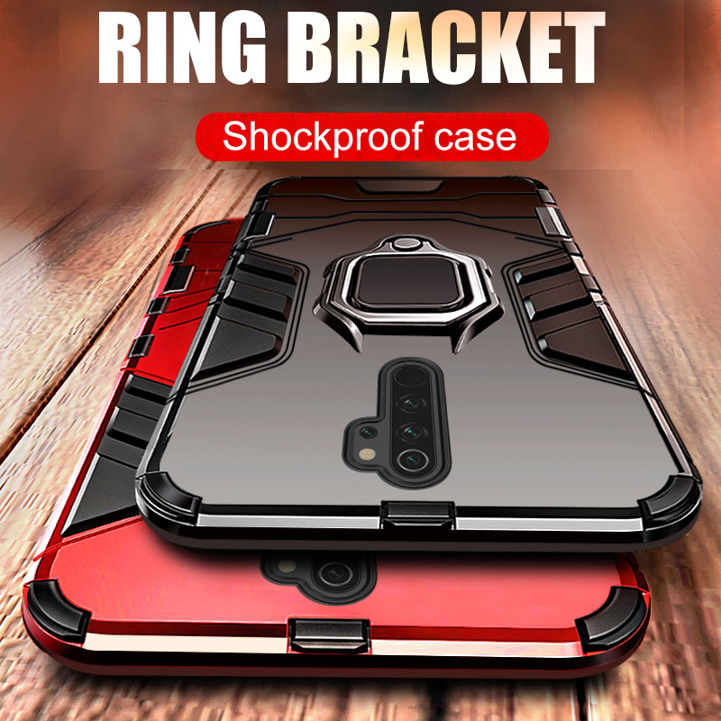 Luxury Armor Holder <font><b>Ring</b></font> Magentic <font><b>Cases</b></font> For Xiaomi Redmi <font><b>Note</b></font> 7 Pro k20 k30 <font><b>Note</b></font> 8 <font><b>9</b></font> Pro 9s Max Shockproof Silicone Back <font><b>Case</b></font> image