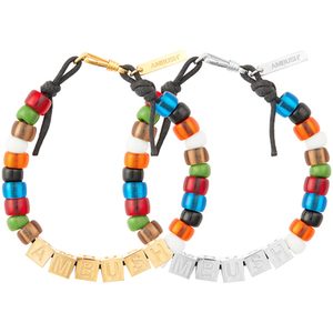 Image 4 - AMBUSH 925 Square letters colorful glazed beads hip hop bracelets fashionable couples Exquisite box packing