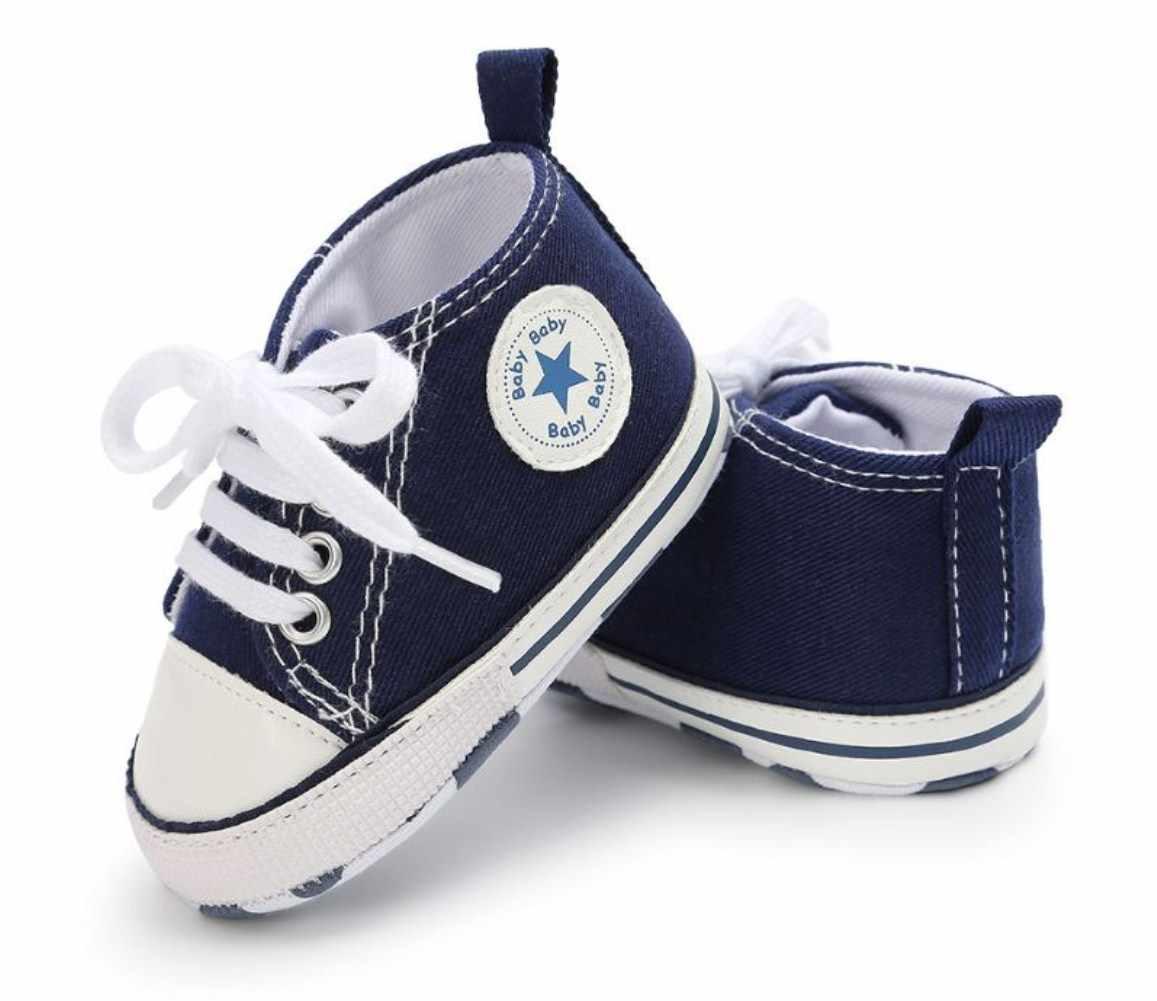 Goocheer Yenidoğan Bebek Unisex Çocuklar Ayakkabıları Bebek Yürüyor Beşik Bebek Yumuşak Tabanlı Kaymaz Moda Klasik Spor Ayakkabı