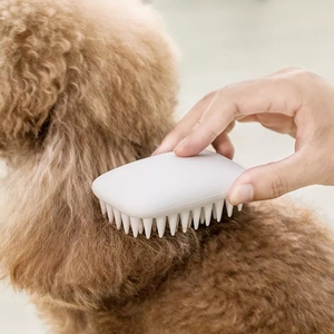 Image 2 - New Youpin Jordan&Judy Pet Silicone Combs Hair Removal Brush Smooth Surface Easy Cleaning Pet Massage Combs