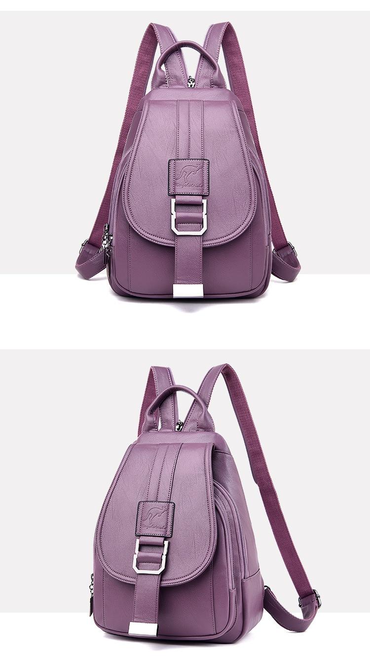 Women's Vintage Leather Backpack 20