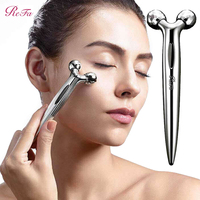 ReFa S Carat Micro current Face Massager Platinum Coating Dual Drainage Rollers IPX7 Waterproof Face Massage Facial Slimming