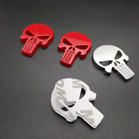 sticker motorcycle accessories 2 PCS Waterproof 3D Metal Emblem Badge Decal Sticker Punisher Skull Car Motorcycle Decoration Art Styling Tools Accessories (2)