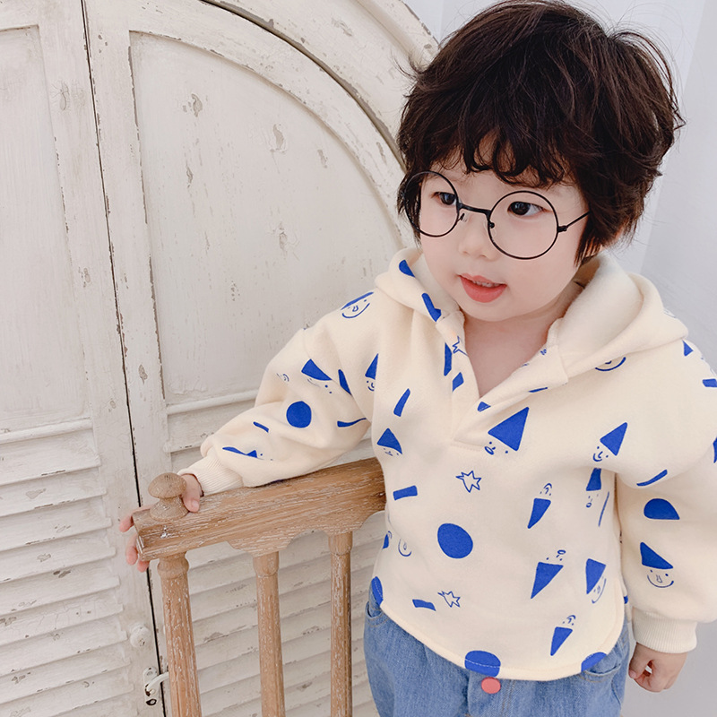 Sweatshirts Pullovers Hoodie Kids Clothes Girls for Tops Snowman-Printed Long-Sleeve