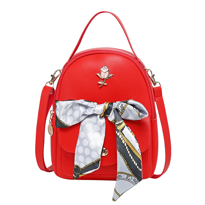 Mini Backpack 2020 Fashion Luxury Women Multi Function School Bag PU Envelope Crossbody Backpack Purse Bow Bandage Bagpack