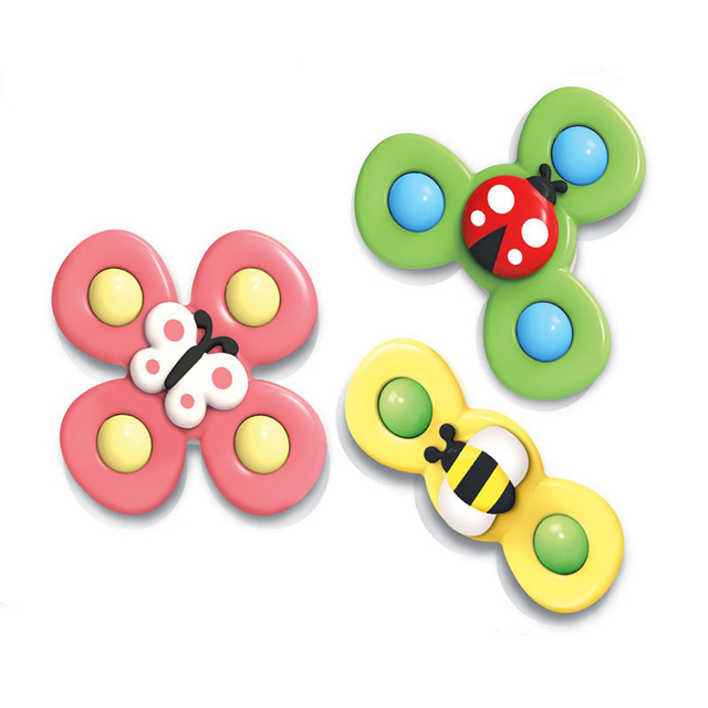 Hot Sell Funny Cartoon Insects Suction Spinner Toy Baby Rattles Bath Toy Educational Develop Toy Rattle Spin Toys For Babies Baby Rattles Mobiles Aliexpress