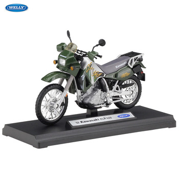 WELLY 1:18    Kawasaki  KLR 650     Diecast Alloy Motorcycle Model Toy For Children Birthday Gift Toys Collection maisto new 1 10ducati desmosedici alloy diecast motorcycle model workable shork absorber toy for children gifts toy collection