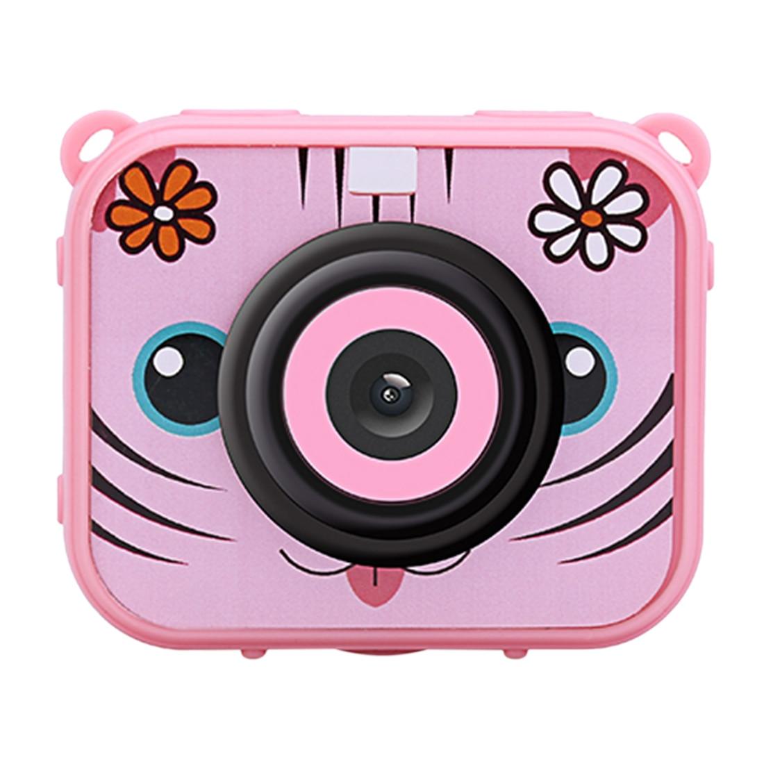 Kid Underwater Action Camera Digital Camera HD 12MP Waterproof Sports Camera For Children Kids Birthday Gift - AT-J20 Pink Blue
