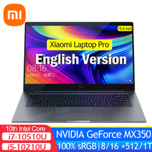 Xiaomi-ordenador portátil Pro 15 DE 15,6 pulgadas, i7-10510U/i5-10210U, MX350, 16GB/8GB de RAM, 512/1TB, SSD, 100% sRGB, Win10, oficina, ultrafino