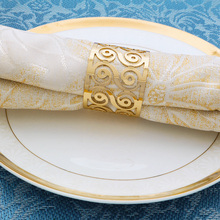 TAI Top 4 Pcs/Set Gold Alloy Napkin Rings Around Napkin Holder For Party Banquet Table Decoration Accessories Napkin Buckle tai top 1 pc flower napkin rings gold silver crystal napkin holders napkin buckle for wedding dinner party table decoration