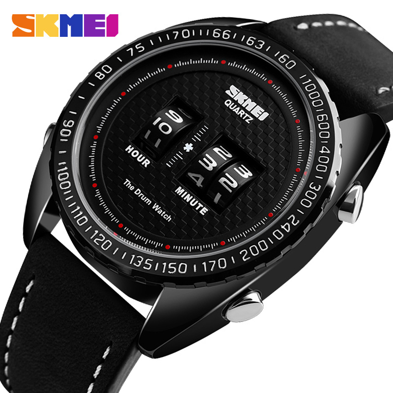 <font><b>SKMEI</b></font> <font><b>1516</b></font> Fashion Creative Men Digital Watches Outdoor Casual Watches Waterproof Sports Watches Leather Strap relogio masculino image