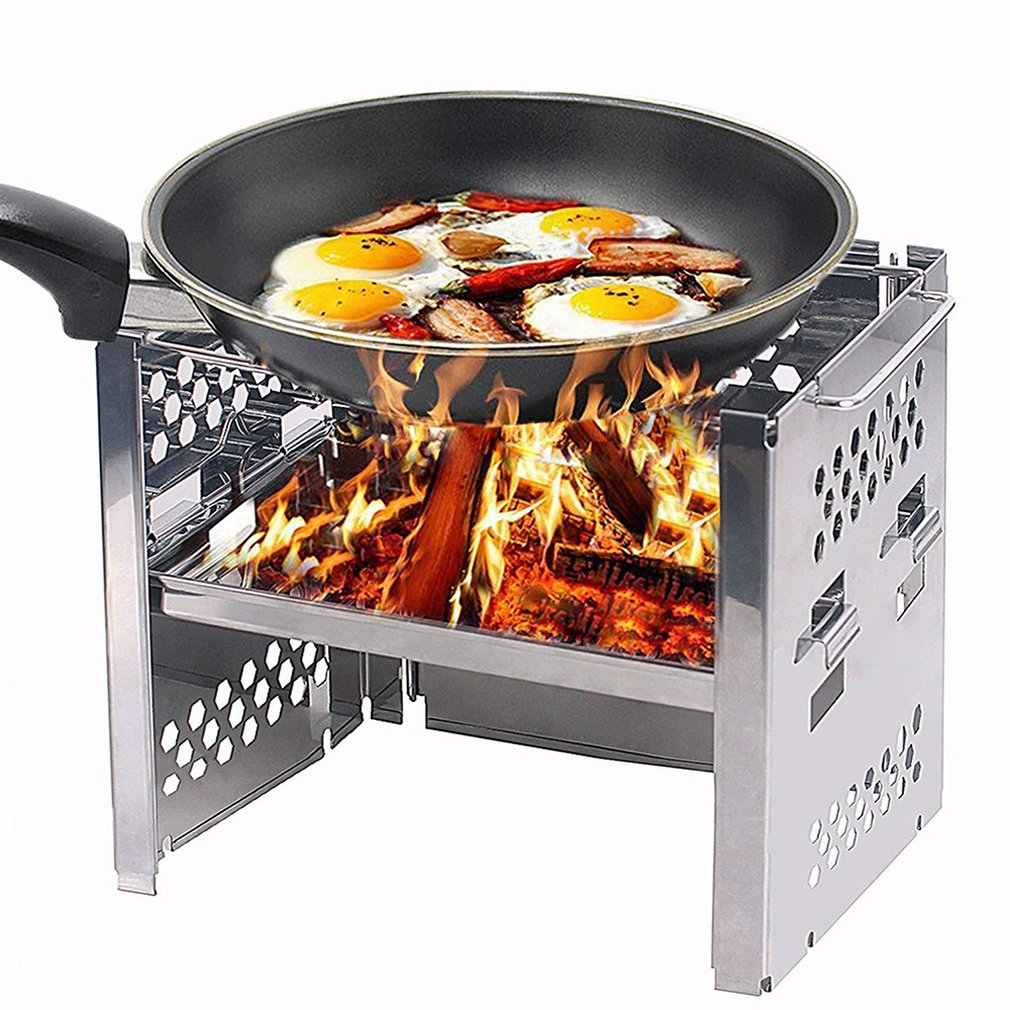 Captain Stag Stove Bonfire Folding Smart Grill B6 Type With Bag Adjustable Barbecue Grill Portable Foldable Bbq Stand