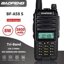 8W Baofeng A58S Tri-Band Walkie Talkie 10km Three Way Radio