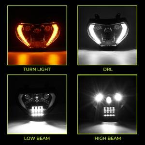 Image 4 - KEMiMOTO MT07 MT09 פנס LED מנורת MT07 2018 2019 עבור ימאהה פנס MT09 FZ09 2014 2015 2016 DRL 110W