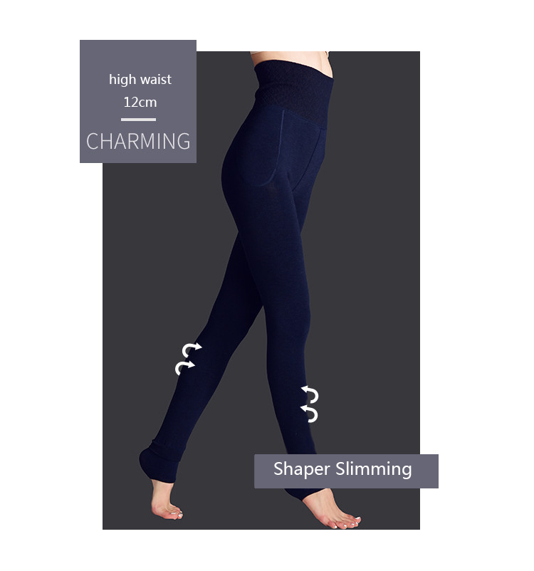 H2c70697985a740808d1d92e7977da076L - Feilibin Winter Women Leggings Thick Winter Warm Pants High Waist Slimming Thicken High Elastic Women's Warm Velvet Leggings