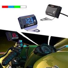 Универсальный Мотоцикл Напряжение Вольт Панель датчика метр Автомобильный светодиодный цифровой дисплей Вольтметр с кронштейном автомобильные аксессуары автозапчасти