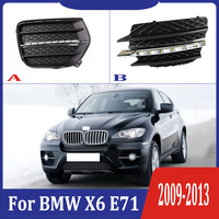 2pcs For BMW X6 E71 2009 2013 6000K White Light LED Daytime Driving Running Light DRL Car Fog Lamp